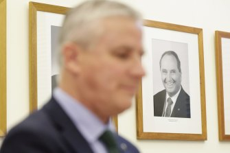Deputy Prime Minister Michael McCormack is being stalked by former Nationals leader Barnaby Joyce.