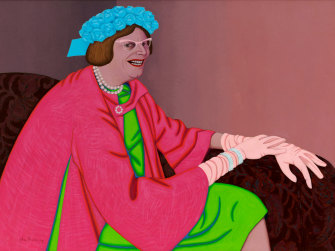 John Brack's Barry Humphries in the Character of Mrs Everage, 1969.