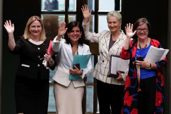 Crossbench MPs Rebekha Sharkie, Julia Banks, Kerryn Phelps and Cathy McGowan all voted for the bill.