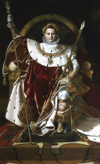 Specious flattery: Jean August Dominique Ingres' painting 'Napoleon I on his Imperial Throne' (1806).