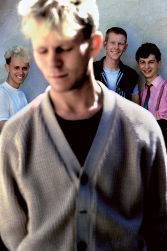 Corbijn's first shoot with Depeche Mode (with former member Vince Clarke) in London, 1981.