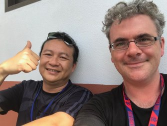 Art Taokwang with Fairfax Media correspondent James Massola.