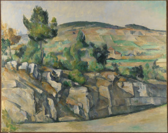 Paul Cézanne's Hillside in Provence, circa 1890-92, is also in the exhibition.