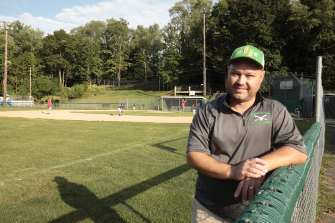 Kevin Wilson, president of the Green Ridge Little League in Scranton, where Biden played as a kid.