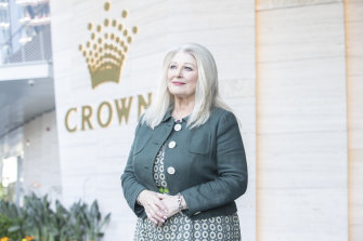 Crown chairman Helen Coonan has been challenged about retaining her position on the gambling company's board following the revelations of its corporate failings in the Bergin review.