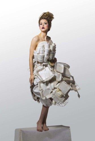 Takeaway Queen by Marina DeBris, featuringmodel Hannah Kat Jones.