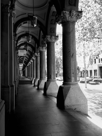 The colonnade at the GPO.