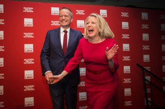 Bill and Chloe Shorten.