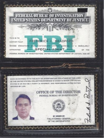 Fred Bradford joined the FBI after leaving Australia, where he studied at the University of Queensland.