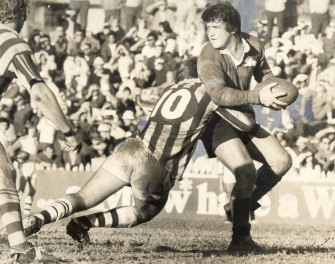 George Piggins during his playing days for South Sydney.