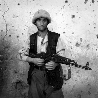 Northern Alliance soldier, Bagram, 1998.
