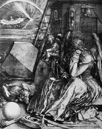 Melancholia I, is a 1514 engraving by the German Renaissance master, Albrecht Durer.