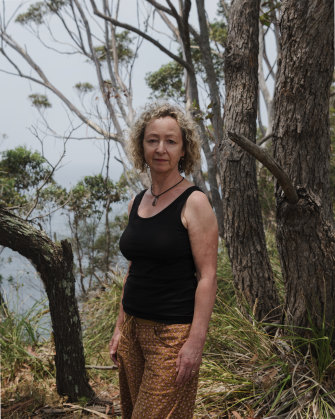 Artist Penny Lovelock when she lost her home during the New Year's Eve 2019 bushfires.