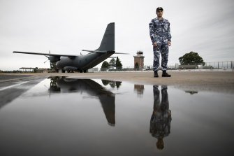 Flight Lieutenant Tjapukai Shaw has been in the RAAF for nine months and is currently attached to 22 Squadron.