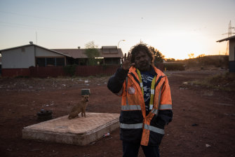 Martu man Felix recently accepted a new house in Newman, which means his Parnpajinya home is likely to be bulldozed.