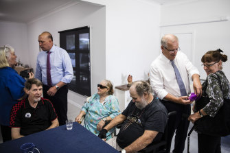 Home Affairs Minister Peter Dutton and Prime Minister Scott Morrison campaign in Dickson in late January.