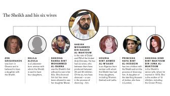 The Sheikh and his six wives.