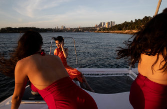 "Nashita Chowdhury, of Blacktown Girls High School, spent most of her time outside after becoming seasick during her long-awaited formal. But it didn't colour the night. ""It was an impossible thing for a long time, so to get it to happen and come out as we wanted it to was pretty rewarding."""