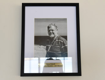 Photograph of Ross Powell in the club room.