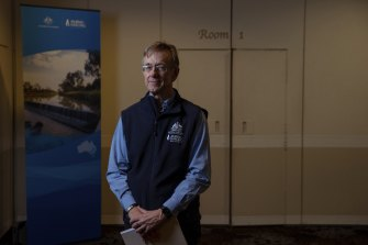 Phillip Glyde, Chief Executive of the Murray Darling Basin Authority, was among those addressing a rivers conference in Griffith on Tuesday.