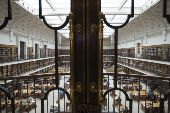 The reading room at Sydney's Mitchell Library.