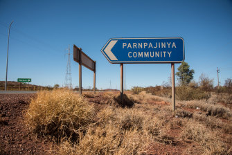 Despite being only two kilometres away from Newman, Parnpajinya is not serviced by the town's bin collection system.