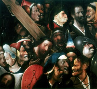 The gruesome thugs of Hieronymous Bosch'sChrist Carrying the Cross(1515-16).