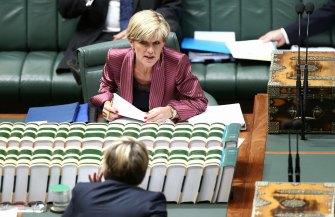 Julie Bishop and  Tanya Plibersek face off in Parliament