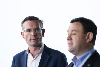 Treasurer Dominic Perrottet and Minister for Jobs, Investment, Tourism and Western Sydney Stuart Ayres are both members of the crisis cabinet.