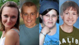 Deceased Tartan High School students: Katie Jurek, Aaron Fowler, Nikki Schaut and Alex Crowley