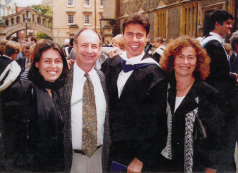 Josh Frydenberg with family at Oxford University.
