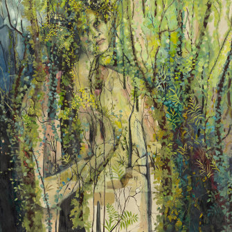 Keeper of the forest by Conjola artist Penny Lovelock, part of an exhibition in Milton from December 22-29, at Van Rensberg Galleries,