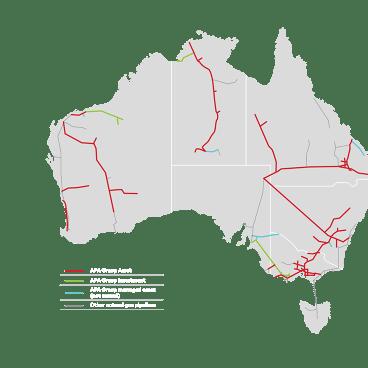 APA's gas pipeline network.