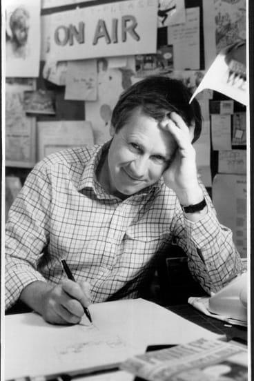 Ron Tandberg at work in 1985.