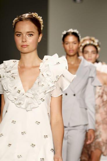 Elliatt clothes on the runway at New York Fashion Week.