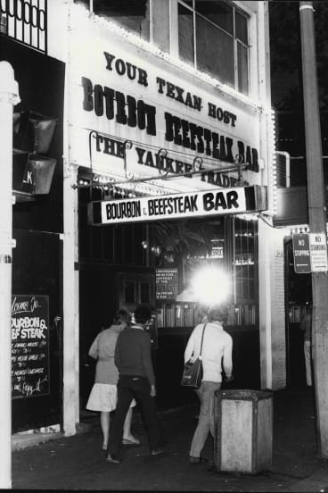 The Bourbon and Beefsteak Bar pictured in 1983.