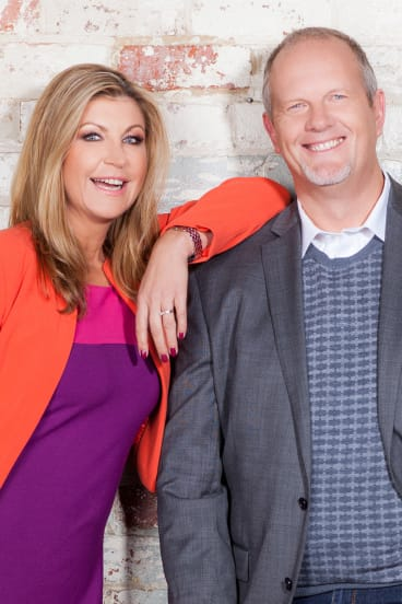 Jennifer Hansen with her Smooth FM co-host Mike Perso.