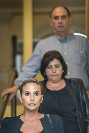 Arico's wife Franki, his mother Antonia and father Antonio.
