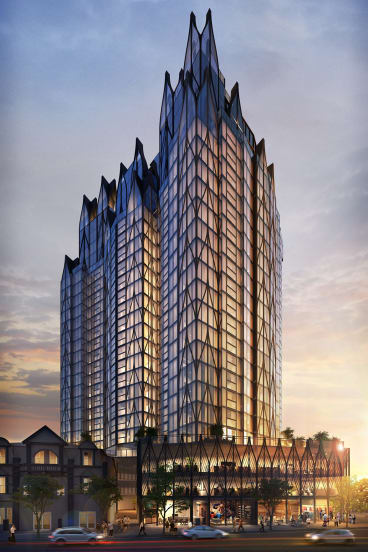 A development application has been lodged proposing a 27 storey residential tower at the Broadway Hotel site.