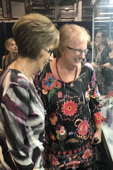 Quillers through thick and thin, Pauline Peel and Meg Crawford cast a keen eye over the competition at the Royal Easter Show.