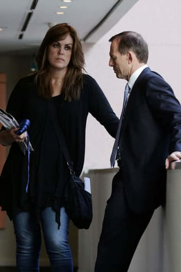 Peta Credlin with Tony Abbott when he was prime minister.
