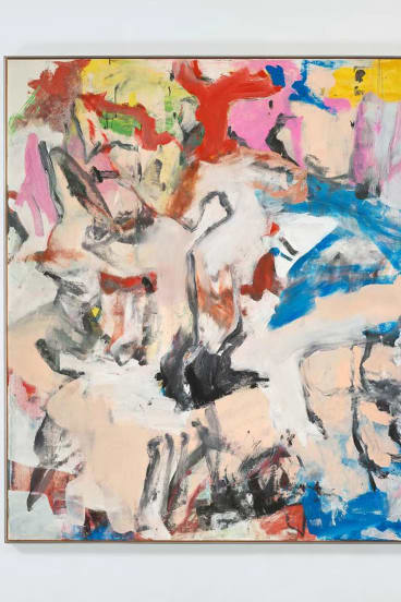 """""""Untitled XII"""", a 1975 painting by late artist Willem de Kooning, sold for $US35 million at last month's Art Basel Hong Kong fair. De Kooning also worked as a carpenter."""