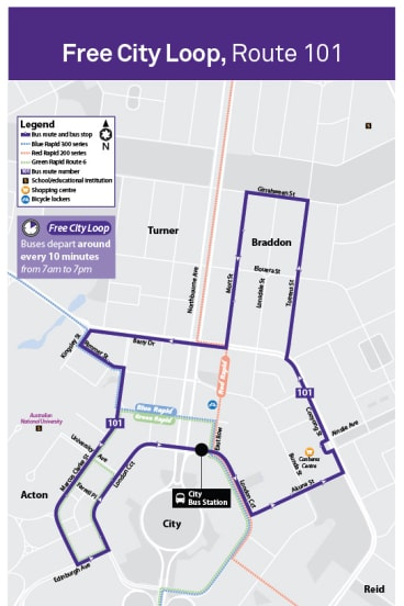 Canberra's free loop bus. The service will be axed as part of the new transport network.