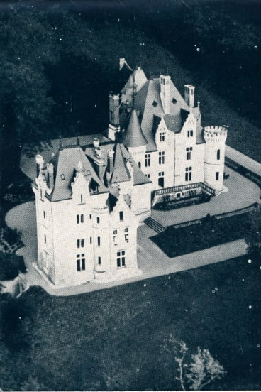 The Chateau de Cande, France. The location of the 1937 wedding between Wallis Simpson and the abdicated King Edward VIII.
