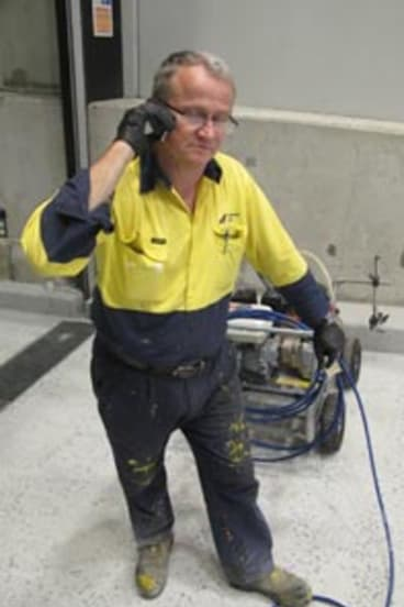 Andrew Perryn, from Linemarkers South East Qld, was left with a steep bill when his phone company went bust.