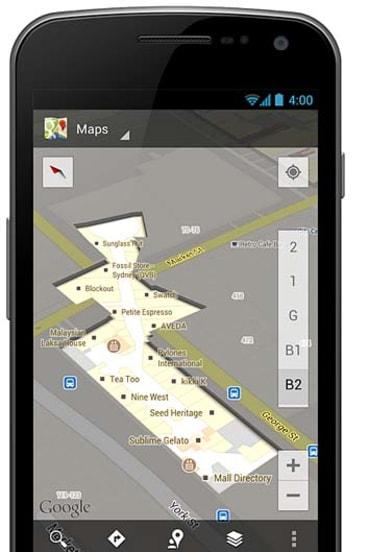 Google's indoor map of the Queen Victoria Building, Sydney.