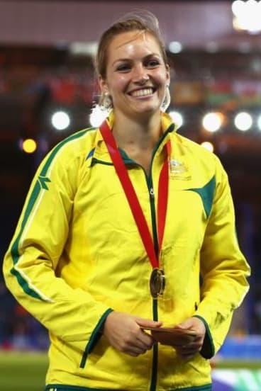 Bronzed Aussie: Kelsey-Lee Roberts.