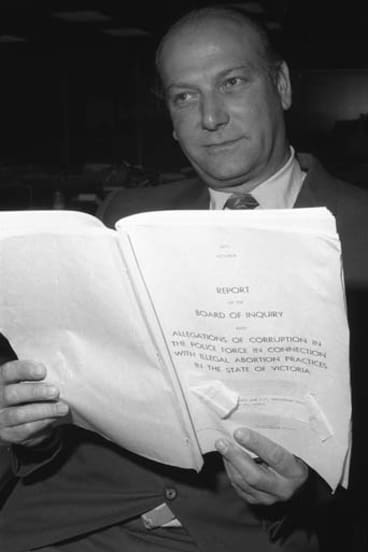 Dr Bertram Wainer in 1971 reading the abortion inquiry report. Wainer successfully lobbied for legal access to abortion for women in Victoria.