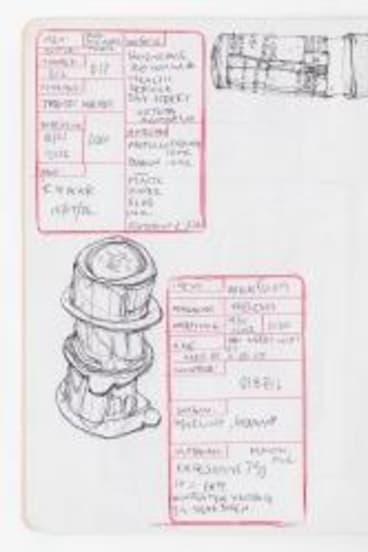 Jo Buckland's sketchbook.