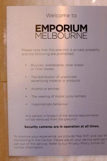 The sign outside Emporium Melbourne.